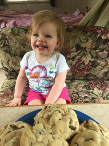 Cassidy LOVED the cookies!